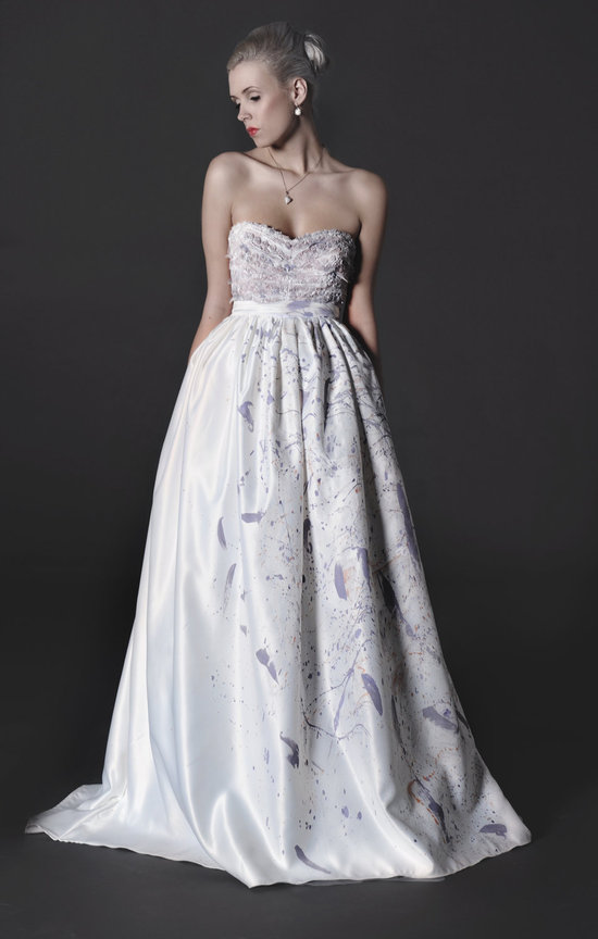 photo of Painted wedding dress