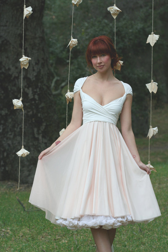 2012 bridal gowns tea length wrap dress