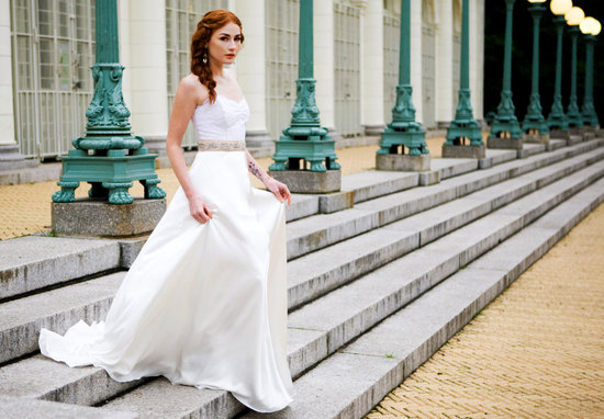 2012 wedding dress etsy lace bodice bridal sash