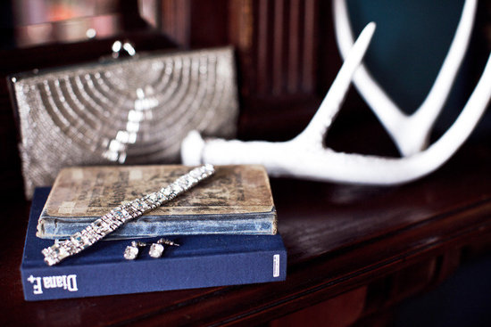 photo of real wedding bridal jewelry