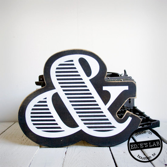 wedding ceremony reception decor bride groom initials custom signs black white modern