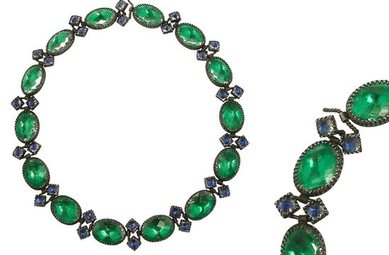 elegant wedding necklace emerald bridal jewelry