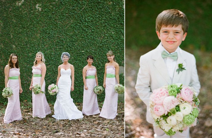 Light-pink-bridesmaids-dresses-with-green-sashes.full