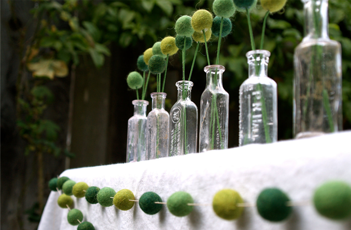 Diy wedding reception ideas glass bottles with billy balls for Diy wedding reception ideas