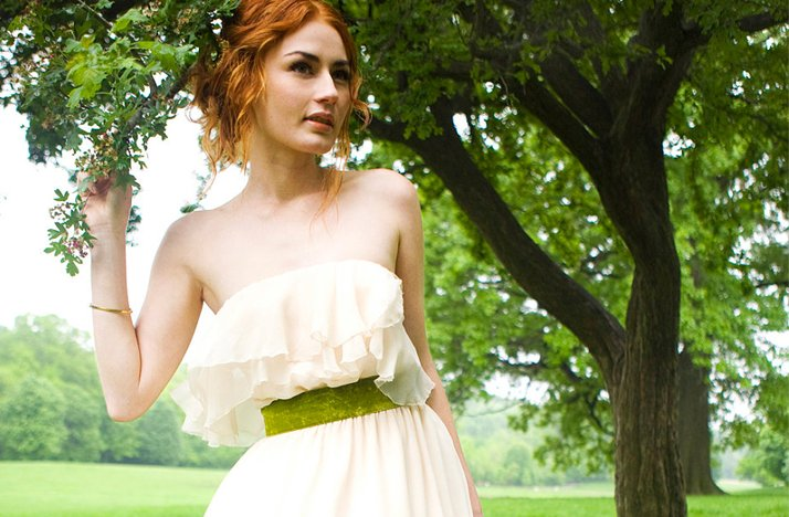 Bohemian-wedding-dress-green-bridal-sash.full
