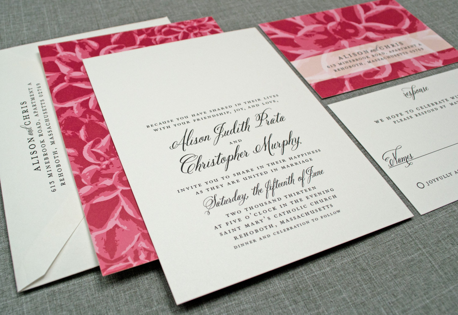 Photo Wedding Invitation: Elegant Wedding Invitations Floral Print