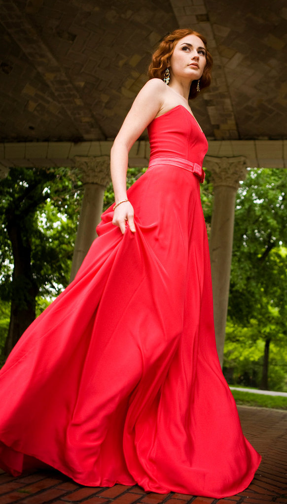 photo of 1930's-inspired red gown by Schone