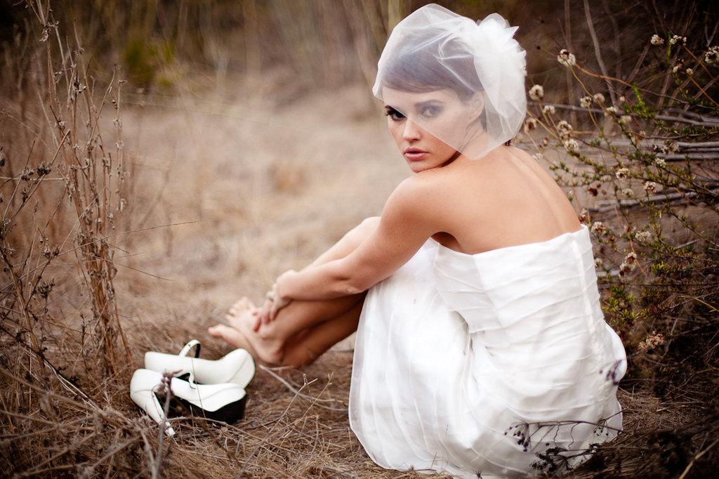 Tiered-little-white-wedding-dress-bridal-blusher.full