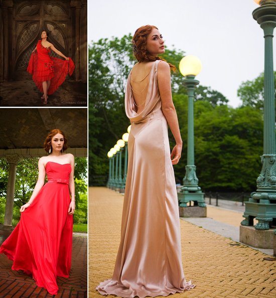 non white wedding dresses red pink