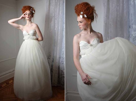 spring 2012 bridal indie wedding dress bohemian ballgown sweetheart neckline