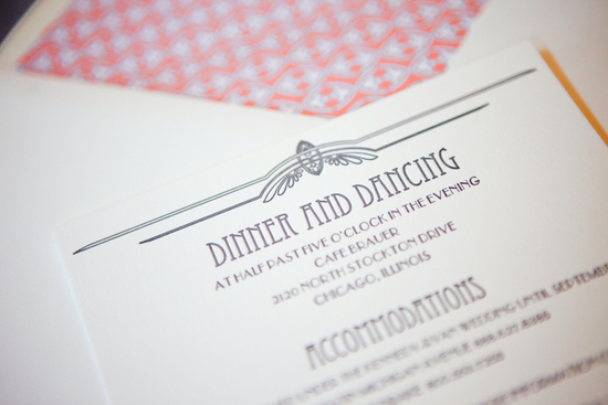 coral grey wedding invitations vintage inspired 2