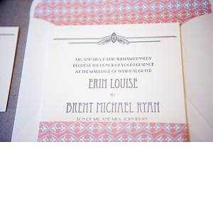 Elegant Wedding Invitations Winter Wedding Coral Grey
