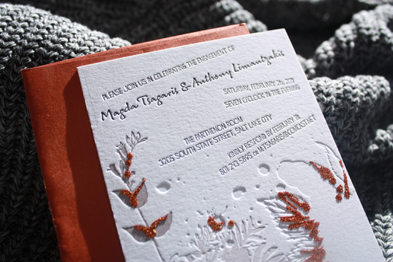 bead embellished wedding invitations