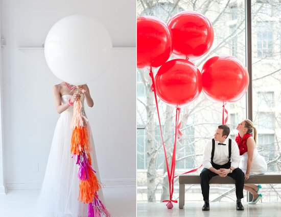 balloon wedding inspiration DIY wedding reception ideas