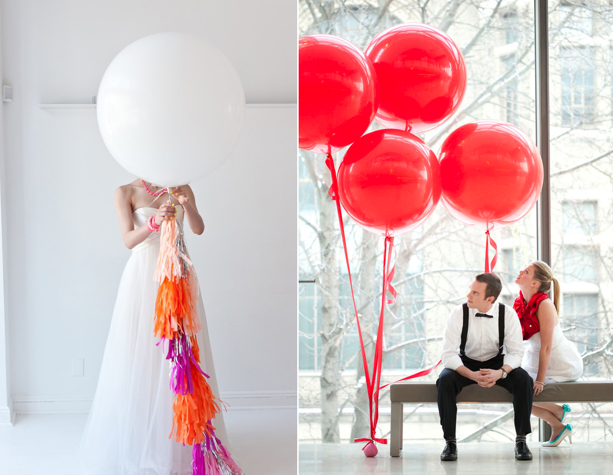Balloon wedding inspiration diy wedding reception ideas for Ballon wedding decoration