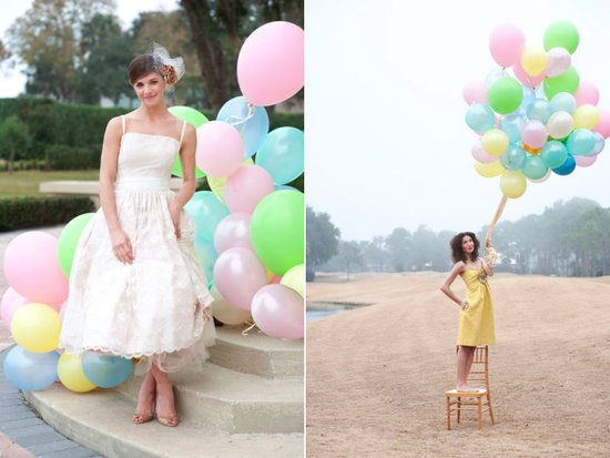pastel balloons outdoor weddings