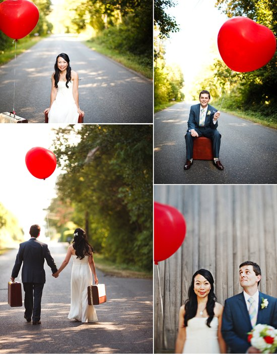 outdoor real weddings balloon wedding decor inspiration