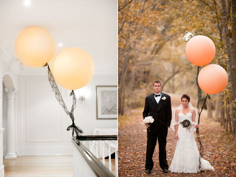 Romantic-wedding-ideas-balloon-decor-peach-black-lace.original