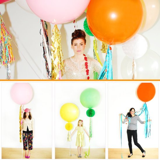 colorful balloons wedding reception ideas