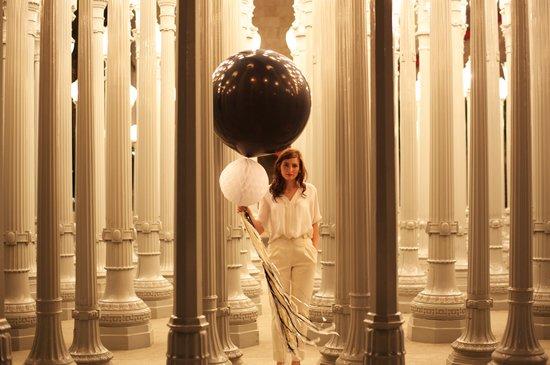 photo of wedding reception decor balloons