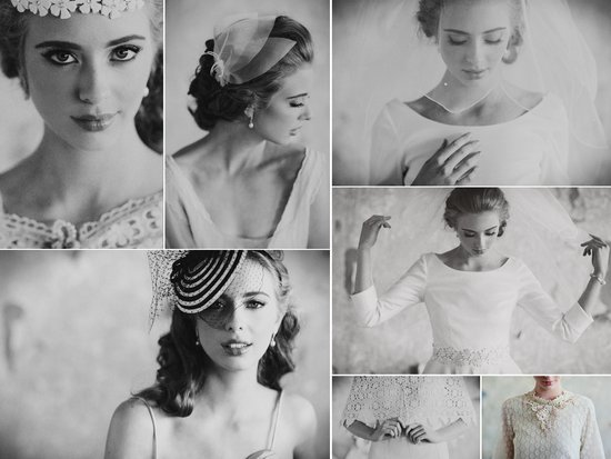 romantic black white wedding photos vintage inspired bridal accessories