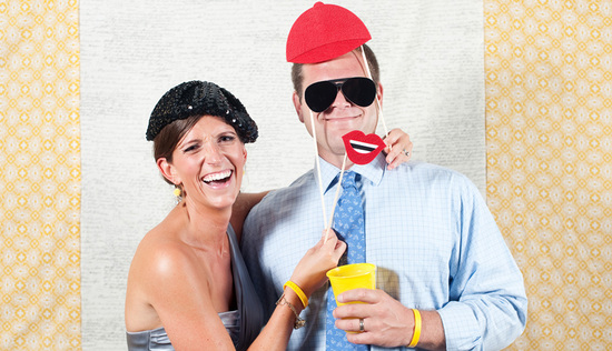 wedding reception ideas photobooth fun