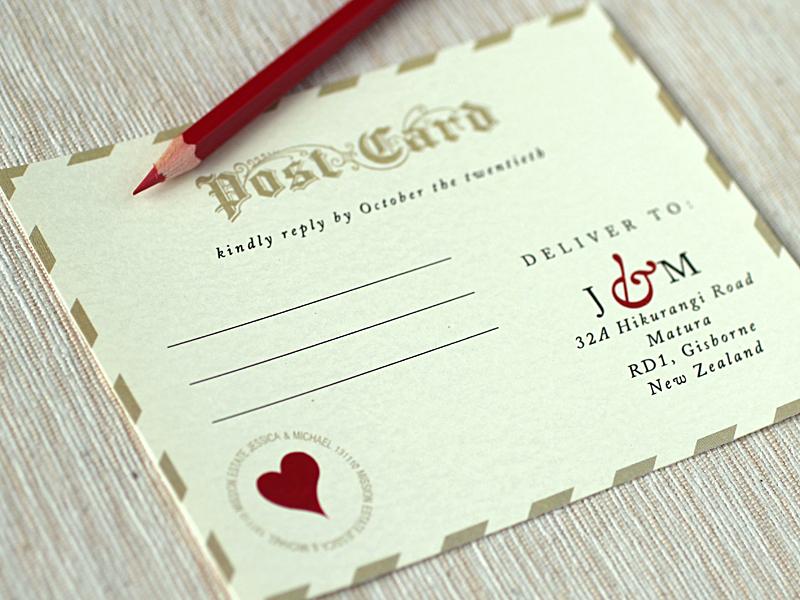 Love Letter Wedding Invitations Rsvp 2