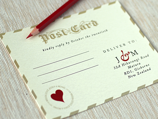 Love Letter Wedding Invitations RSVP 2
