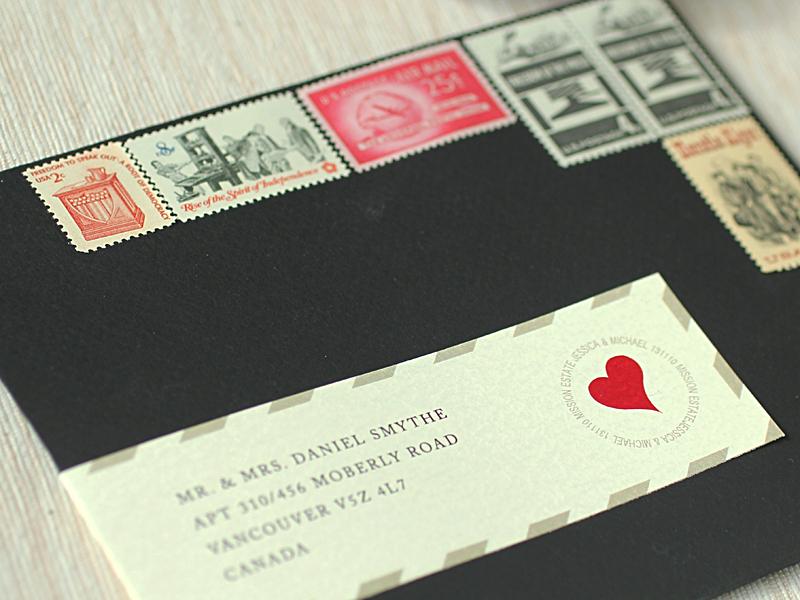 Love Letter Wedding Invitations Envelope