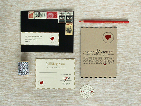 Love Letter Wedding Invitations vintage inspired wedding stationery 3