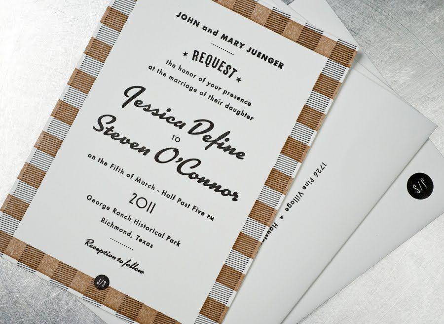 Retro-wedding-invitations-black-white-tan-vintage-inspired-plaid-1.full