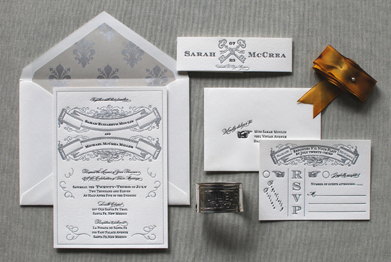 Art Deco Great Gatsby Wedding Invitations Aerialist Press