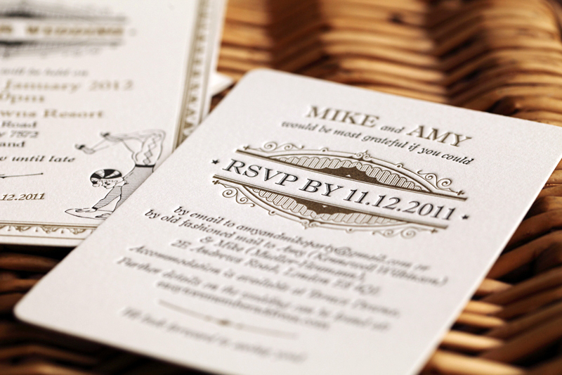 gold white wedding invitations vintage inspired 2