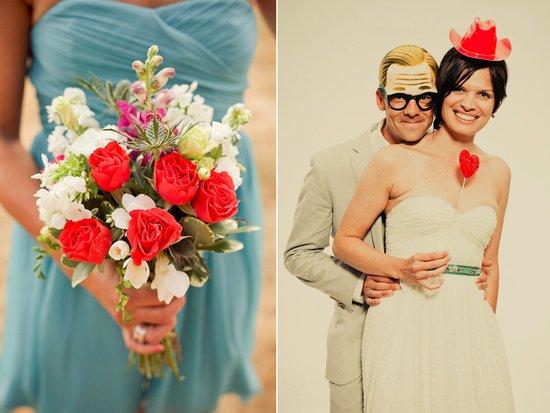 photo of Vivid Coral Wedding Color Inspiration
