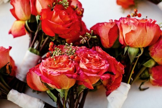 photo of Isn't It Rosy? Lovely Rose Wedding Centerpieces and Bridal Bouquets