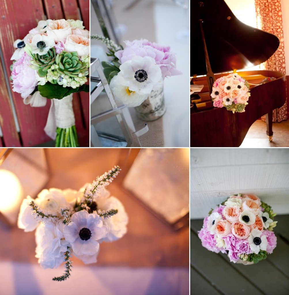photo of Sweet Anemone Wedding Flower Inspiration