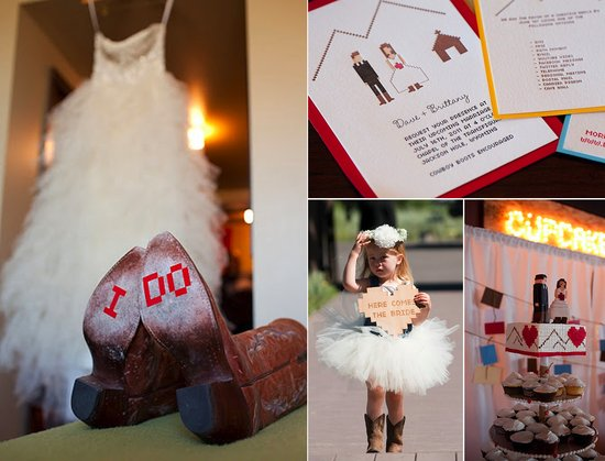 techy real weddings 2012 cowboy theme