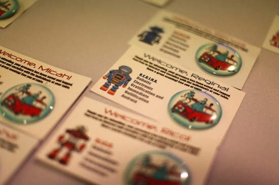 robot wedding reception escort cards