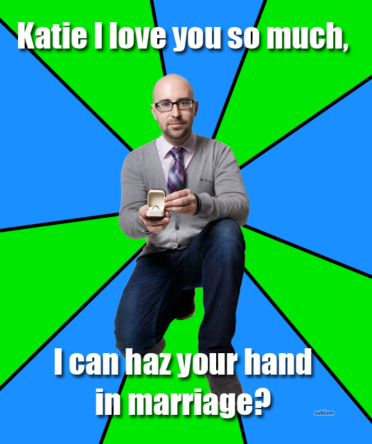 SXSW 2012 geek weddings and proposals meme proposal