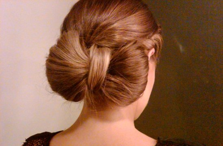 Wedding hair diy tutorials bow bun bridal updo - Chignon original ...