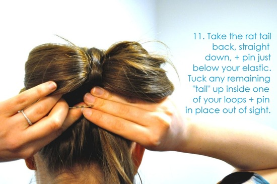 DIY wedding hair ideas bridal updo bow bun 13