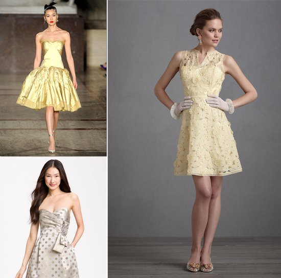 gold bridesmaid dress inspiration