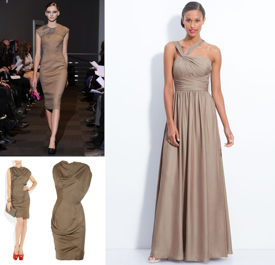 Taupe Bridesmaids Dresses Fall 2012 Wedding Style