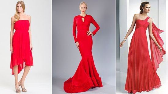 red orange bridesmaids dresses fashion week 2012 wedding inspiration