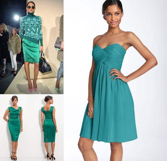 teal bridesmaids dresses fashion week 2012 wedding inspiration