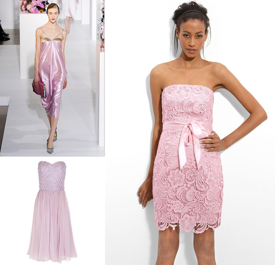 pink lilac bridesmaids dresses wedding party fashion inspiration 2012