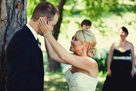 real wedding inspiration bride groom smile after saying i do