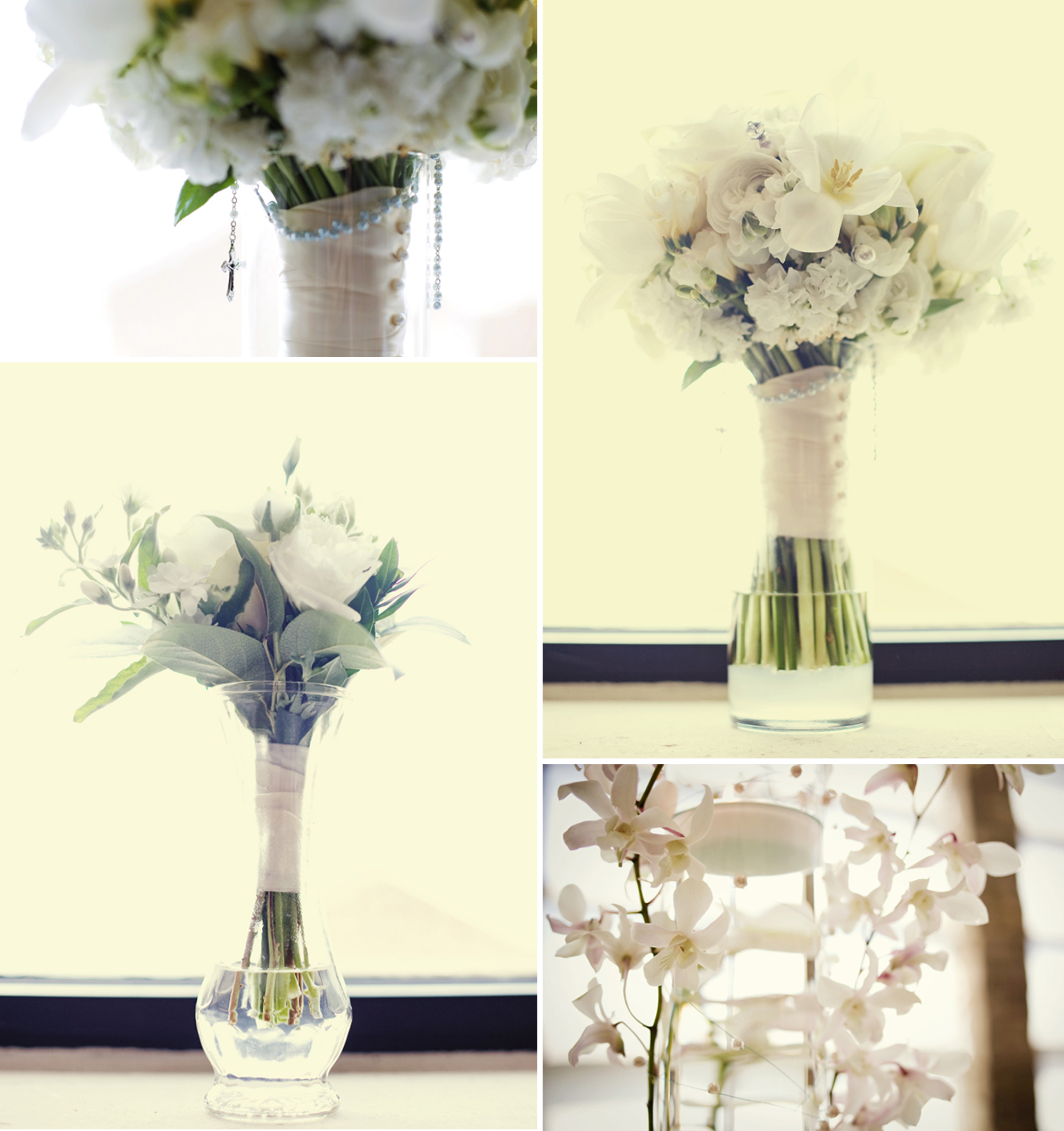 simple elegant wedding flowers ivory bridal bouquet ...