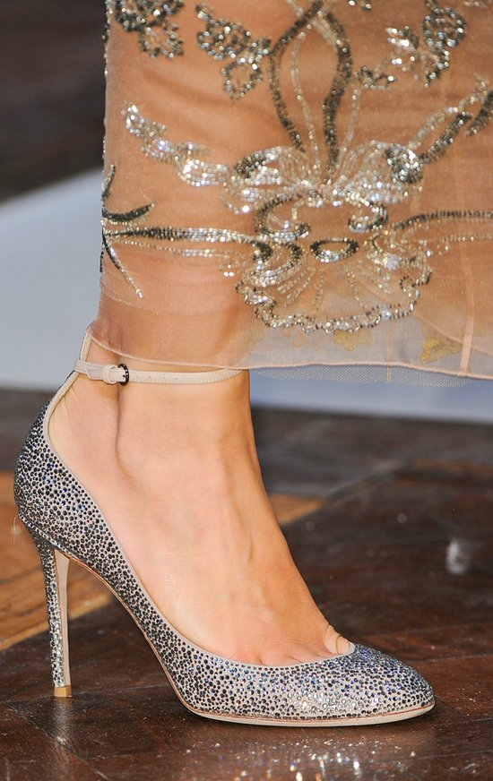 Valentino sparkly black shoes, Fall 2012