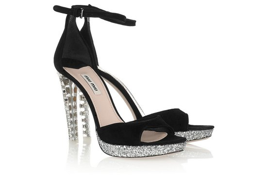 black suede wedding heels crystal encrusted